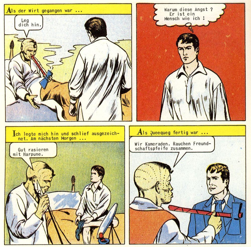 Es liegt wohl nicht nur an der Farbe und dem Lettering. Die zweite Classics-Illustrated-Fassung, welche in den 50er Jahren auch auf Deutsch erschien, ist steriler geraten als die erste Fassung