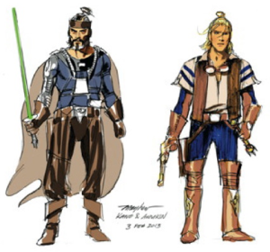 Character Designs für The Star Wars, © Mike Mayhew