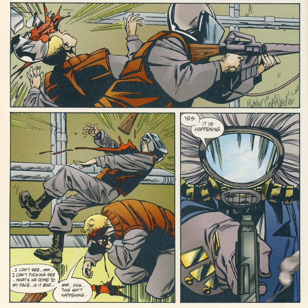 King Mob in seiner Kampfmaske