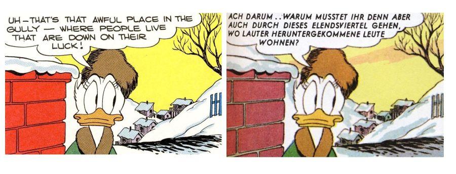Erika Fuchs und Carl Barks im Vergleich