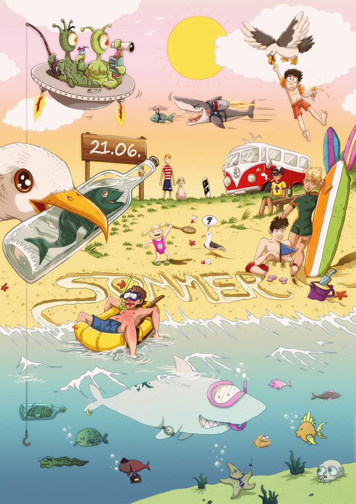 Kalendermotiv vom Team Buddelfisch