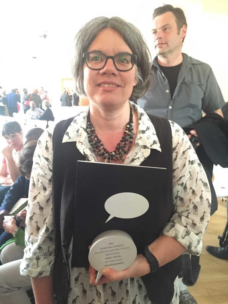 Birgit Weyhe ist Preisträgerin des Comicbuchpreises 2015