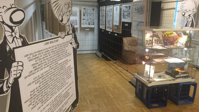 Rudi-Ausstellung auf dem Comicfestival München 2015