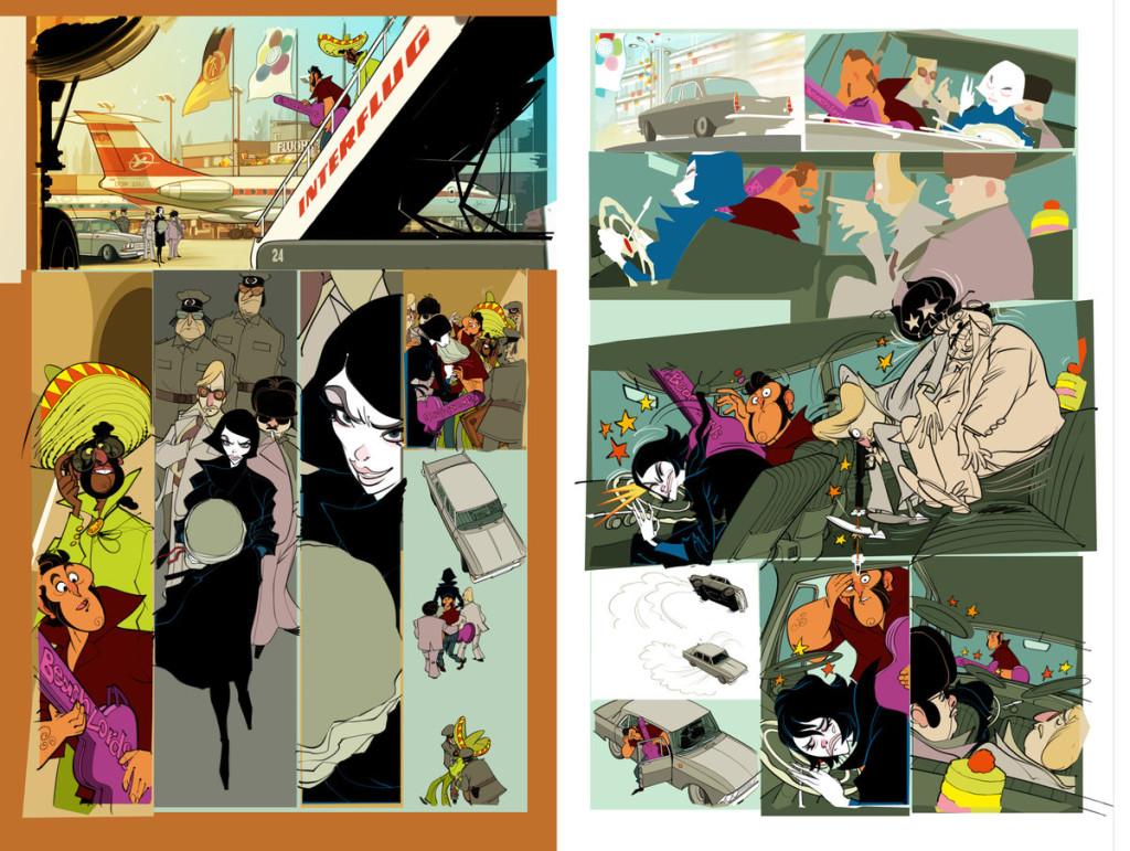 Flat Colors einer Doppelseite aus Das UPgrade 1, © 2014 by Graupner & Wüstefeld