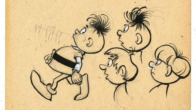 Abrafaxe-Zeichnung zu Lehrzwecken von Lona Rietschel für Ulf Graupner, 1993