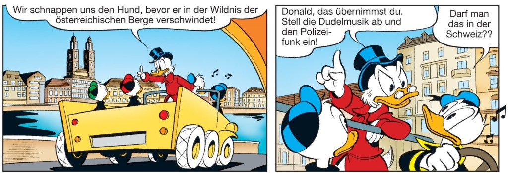 "Szene aus ""Die Ducks in den Alpen"", Egmont Comic Collection © DISNEY"