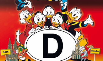 "Cover von ""Die Ducks in Deutschland"", Egmont Comic Collection © DISNEY"