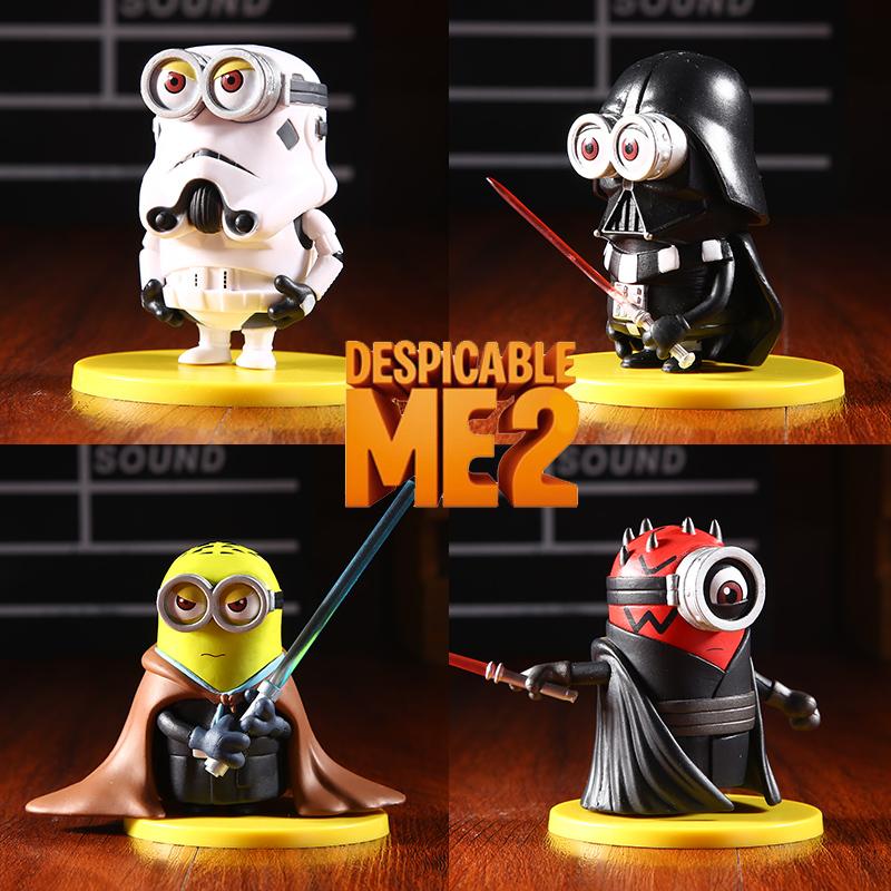 2015-neue-Minion-cos-Star-Wars-Figuren-Spielzeug-4-teile-sätze-Black-Knight-Darth-Vader-Minions