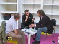 Marc-Oliver, Björn und Dirk (v.l.) beim Interview
