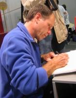 Haimo Kinzler, signierend auf der Frankfurter Buchmesse