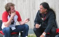 Daniel und Max beim Interview in Erlangen