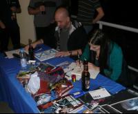 David Messina und Sara Pichelli beim Signieren in Düsseldorf