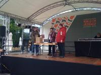 Bernd auf der Bühne am 1. Tag