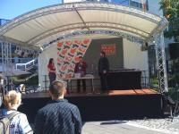 Frauke auf der Bühne am 2. Tag