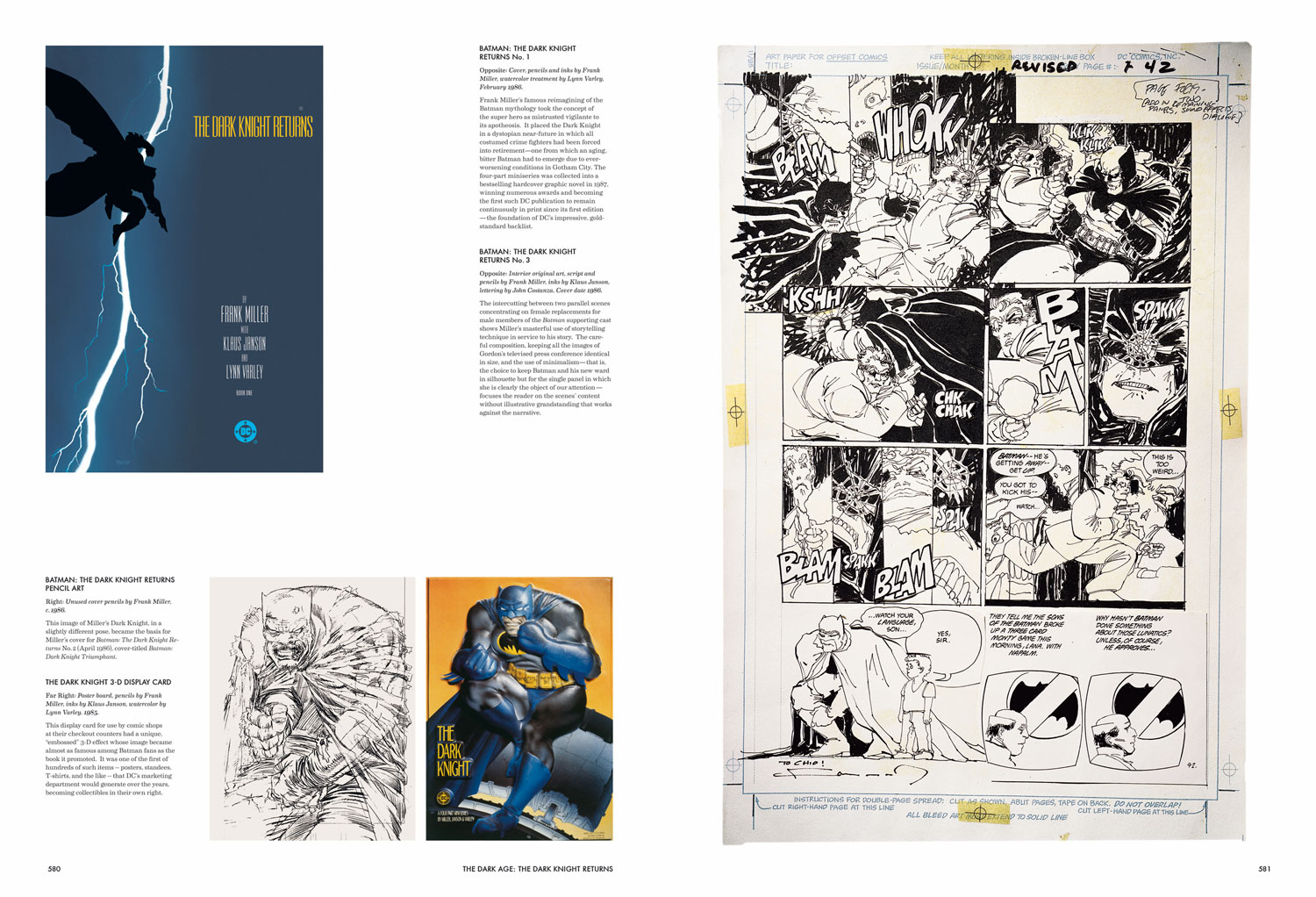 75 Years of DC Comics, interior spread featuring Frank Miller's The Dark Knight, 1985-1986 (TM & © 2010 DC Comics. All Rights Reserved/Courtesy TASCHEN)
