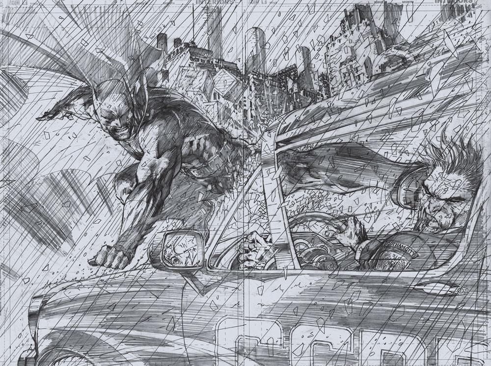 All Star Batman & Robin, The Boy Wonder No. 6. Original art, Jim Lee, September 2007 (TM & © 2010 DC Comics. All Rights Reserved/Courtesy TASCHEN)