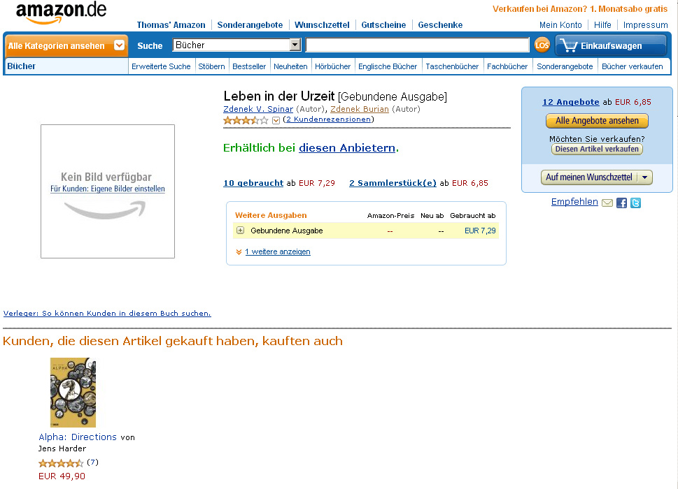 Screenshot: amazon.de