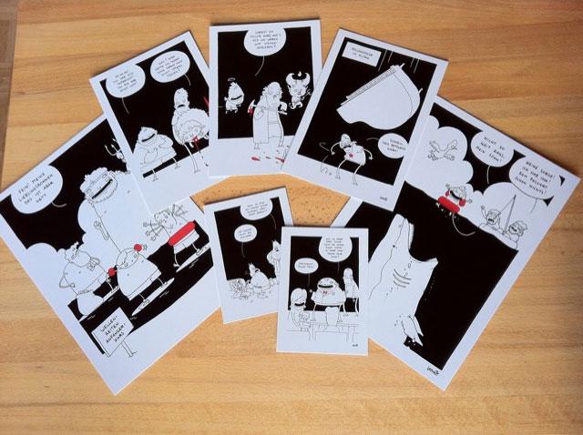 Einzeldrucke von Lapinots SWT-Cartoons