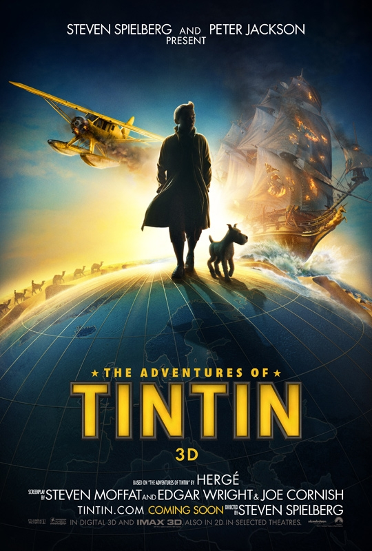 Erstes Filmplakat zu Tim-&-Struppi-Film (Tintin)