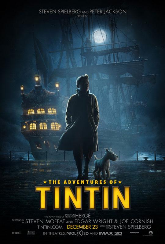 Zweites Filmplakat zu Tim-&-Struppi-Film (Tintin)