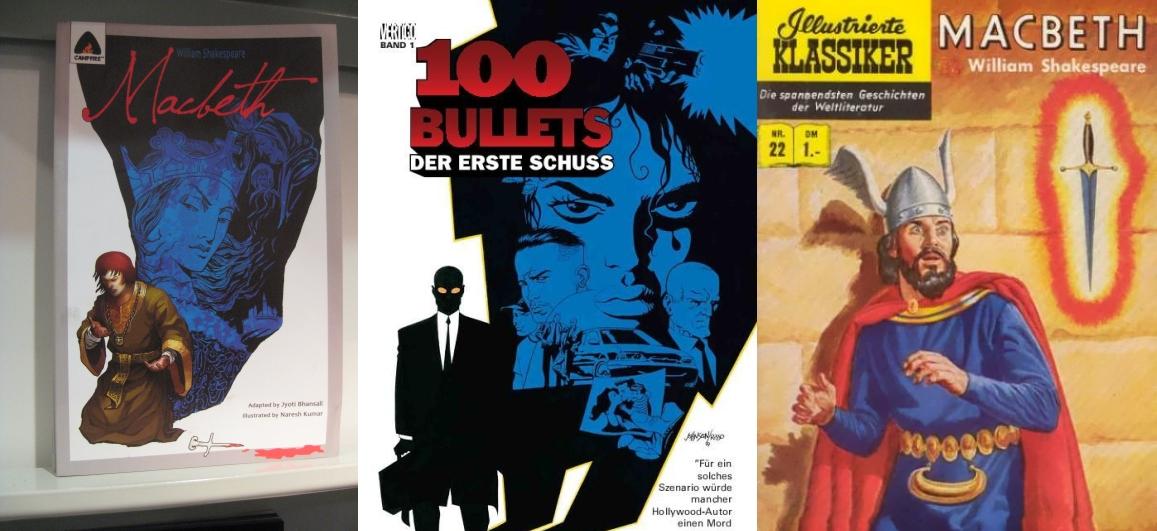 Ähnlichkeiten zwischen Comiccover: Macbeth und 100 Bullets