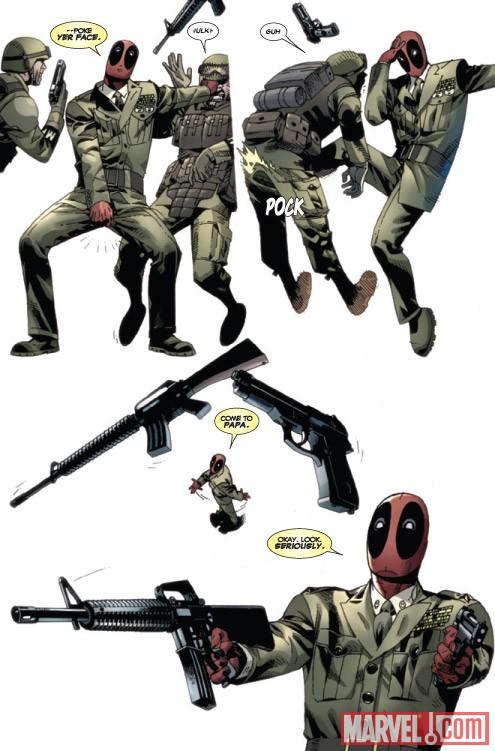 Seite aus Deadpool: Wade Wilson's War