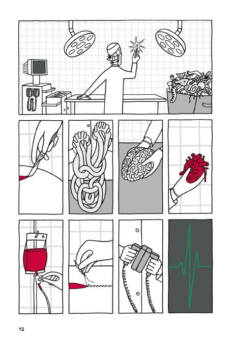 Beispielseite aus Katharina Greves Comic Patchwork