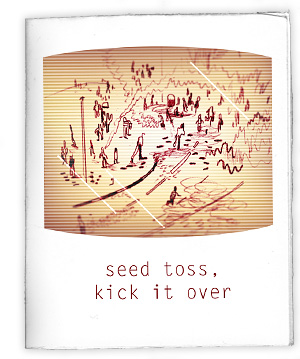 seed, toss, kick it over