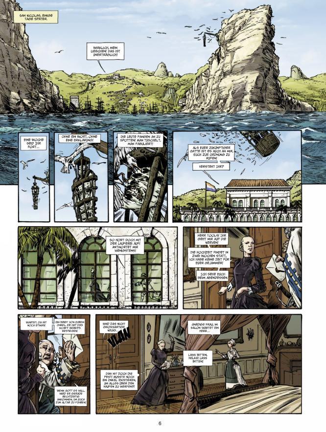Seite aus Das Testament des Captain Crown 1