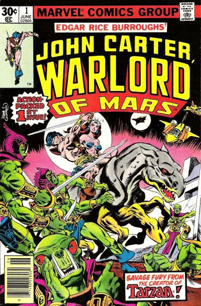 Cover von John Carter: Warlord of Mars #1 (Gil Kane, 1977)
