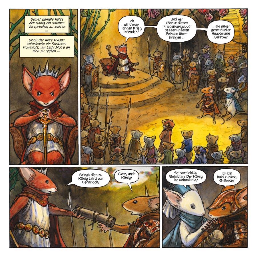 Seite aus Mouse Guard: Legenden der Wächter 1