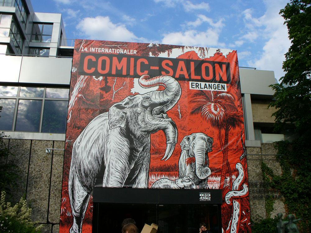 Eingang des 14. Comic-Salons 2010