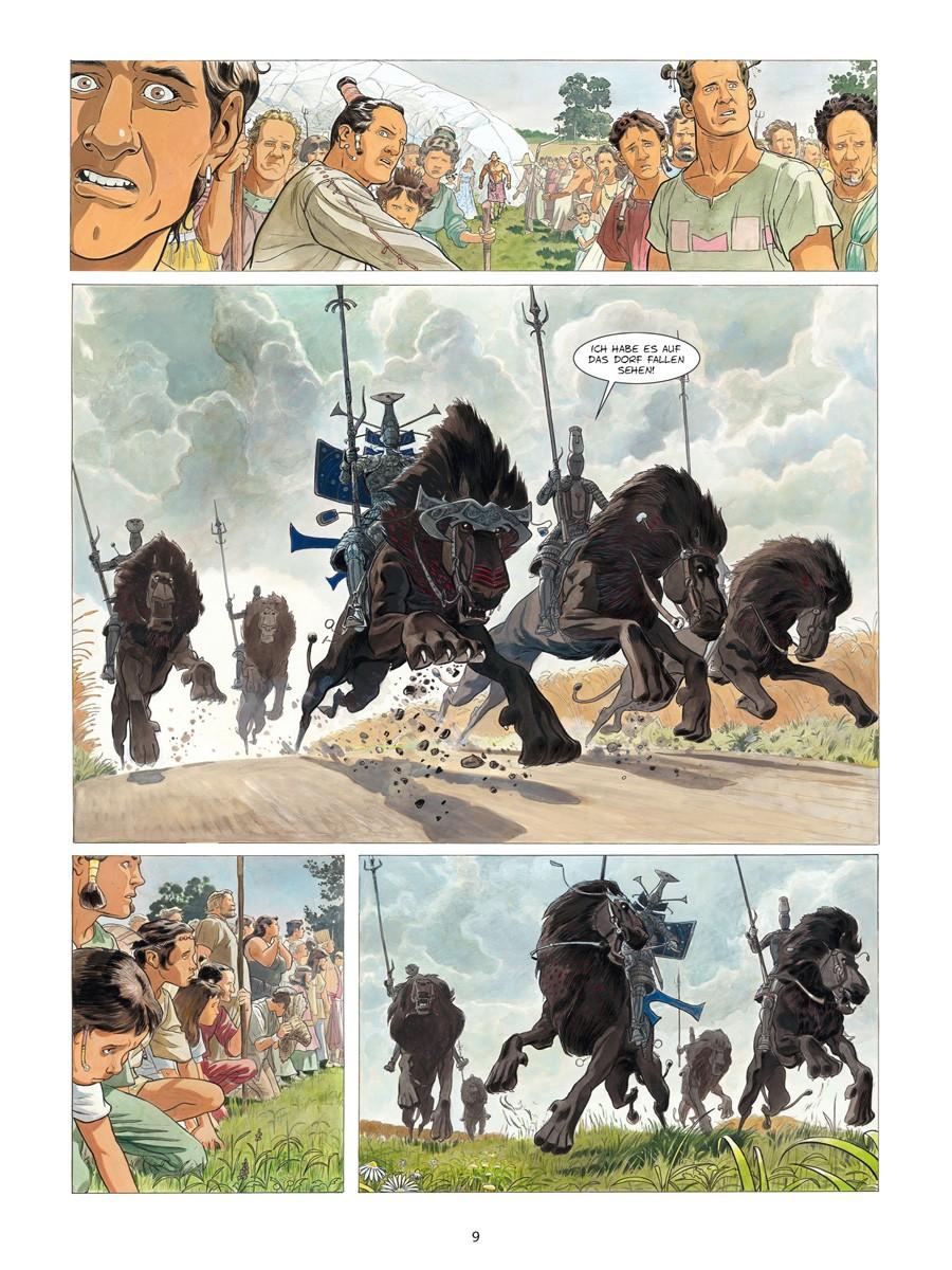 Seite aus Die gläsernen Schwerter 1