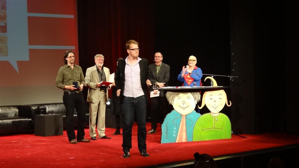 Flix beim Empfang des Max-und-Moritz-Preises auf Comic-Salon 2012