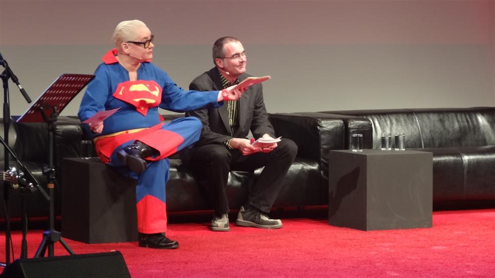 Moderatoren des Max-und-Moritz-Preises 2012: Hella von Sinnen und Christian Gasser