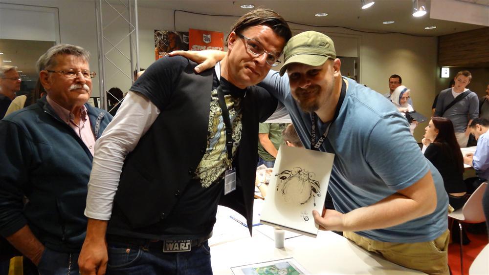 Walter Pfau und Skottie Young auf dem Comic-Salon 2012