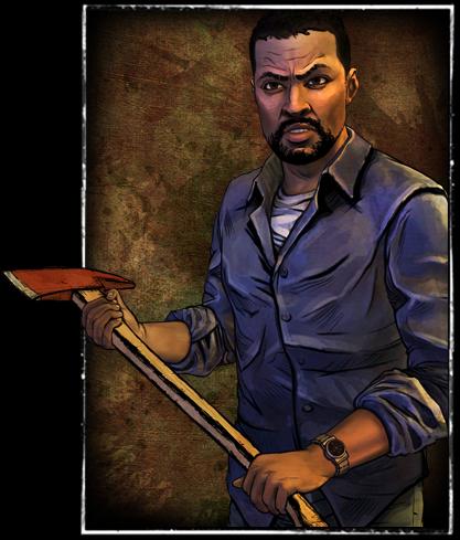 Lee, die Hauptfigur des TWD-Spiels
