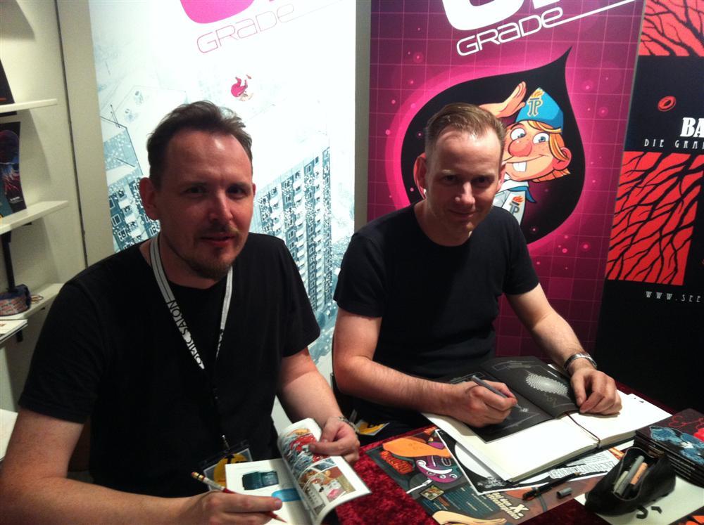Ulf S. Graupner und Sascha Wüstefeld mit UPGrade beim Comic-Salon 2012