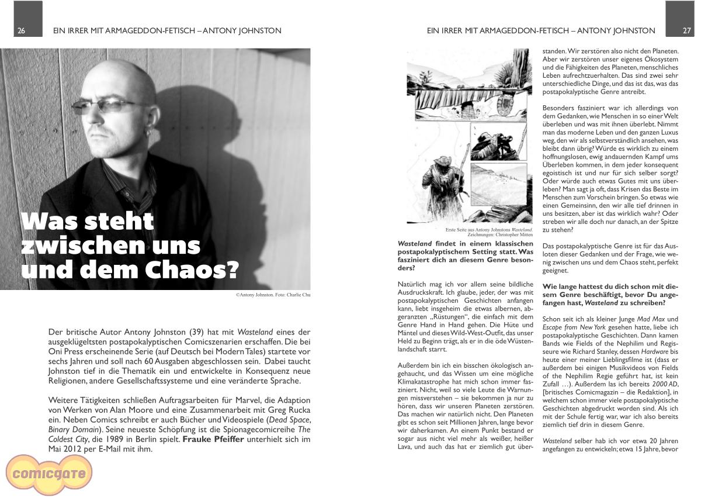 Comicgate-Magazin 7: Interview Antony Johnston