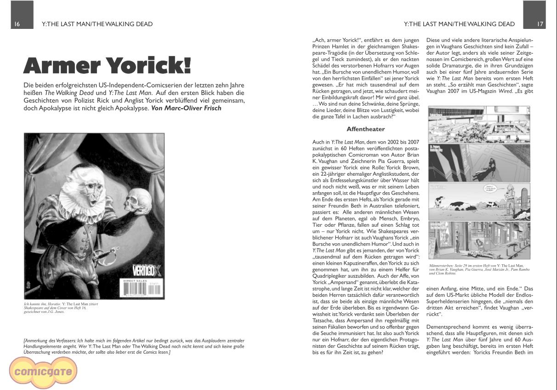 Comicgate-Magazin 7: Armer Yorick!