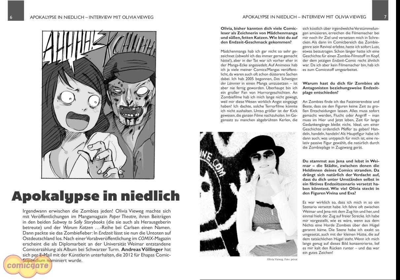 Comicgate-Magazin 7: Interview Olivia Vieweg