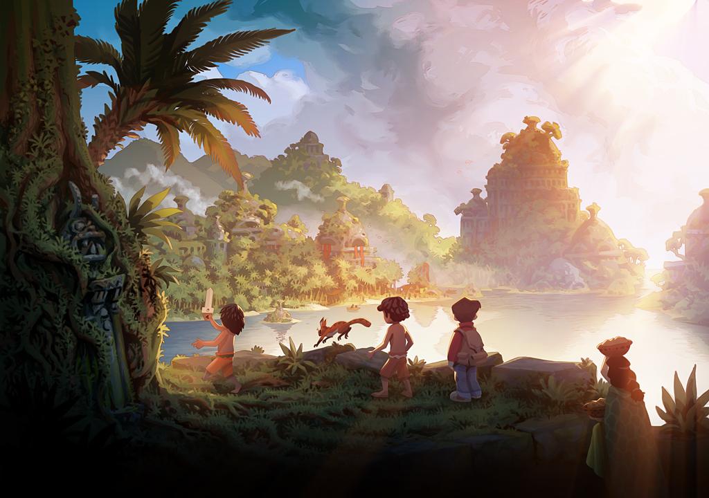 Panel aus Wormworld Saga von Daniel Lieske