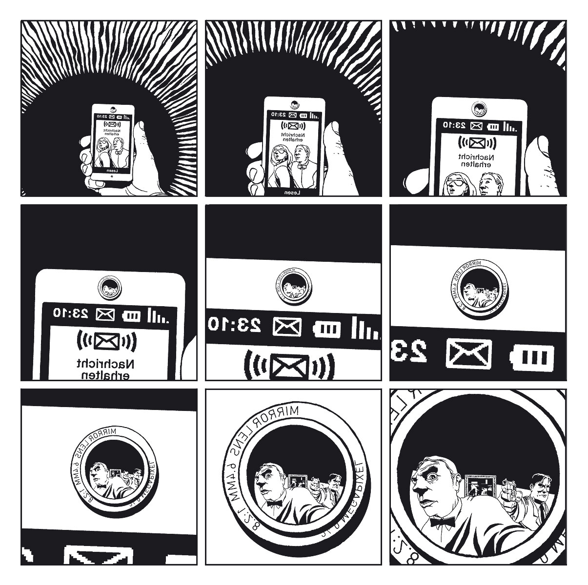 Seite aus 3 Sekunden