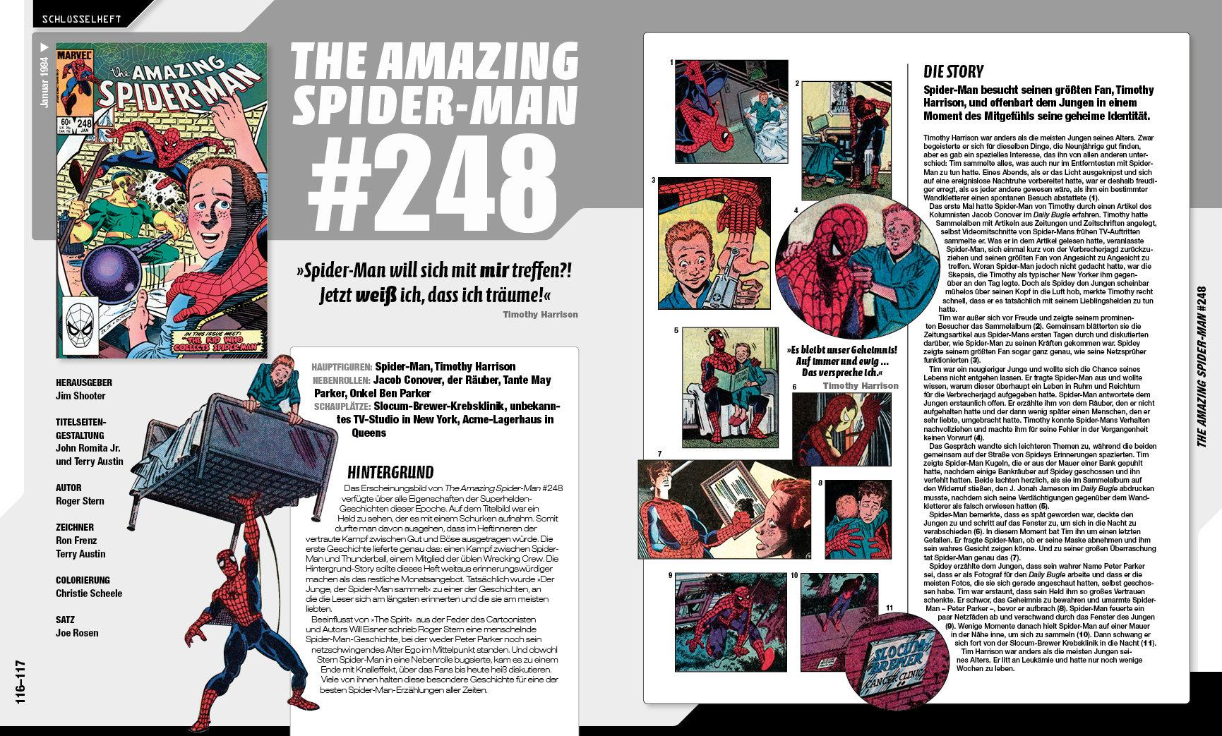 Doppelseite aus Spider-Man: Die spannende Welt des Superhelden