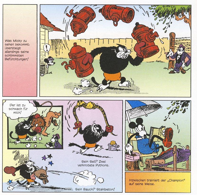 Micky als Boxer in der kolorierten Fassung
