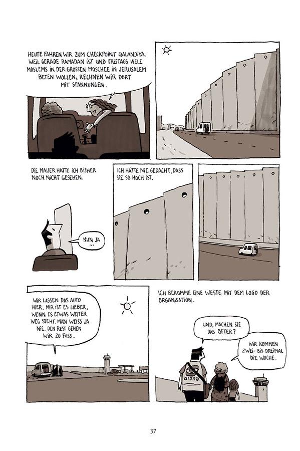 Seite aus Aufzeichnungen aus Jerusalem