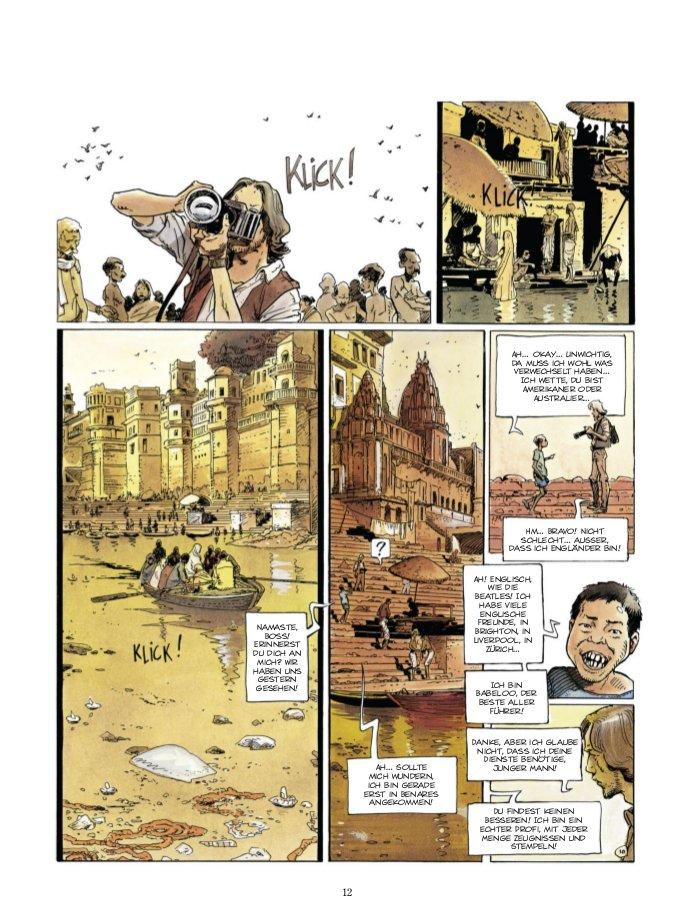 Seite aus Der Vampir von Benares 1