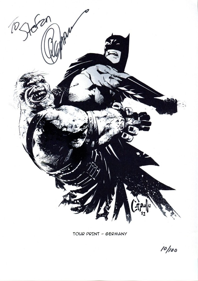 Signed Batman print by Greg Capullo