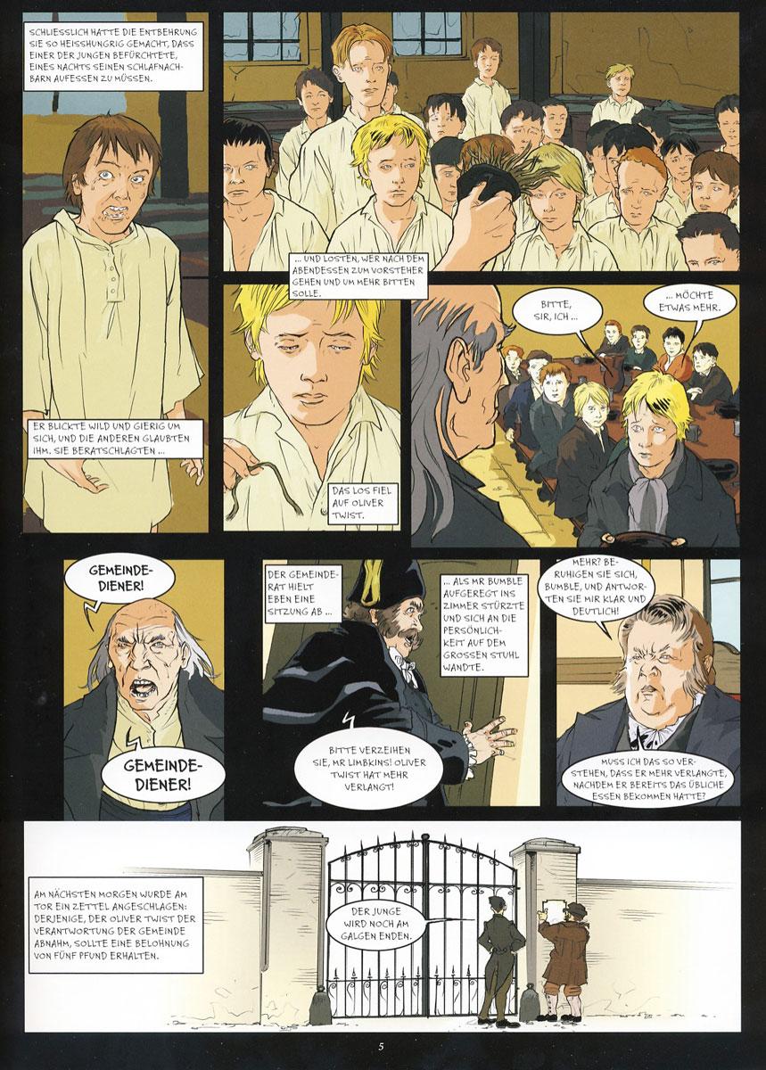 Beispielseite aus Brockhaus Literaturcomics – Oliver Twist