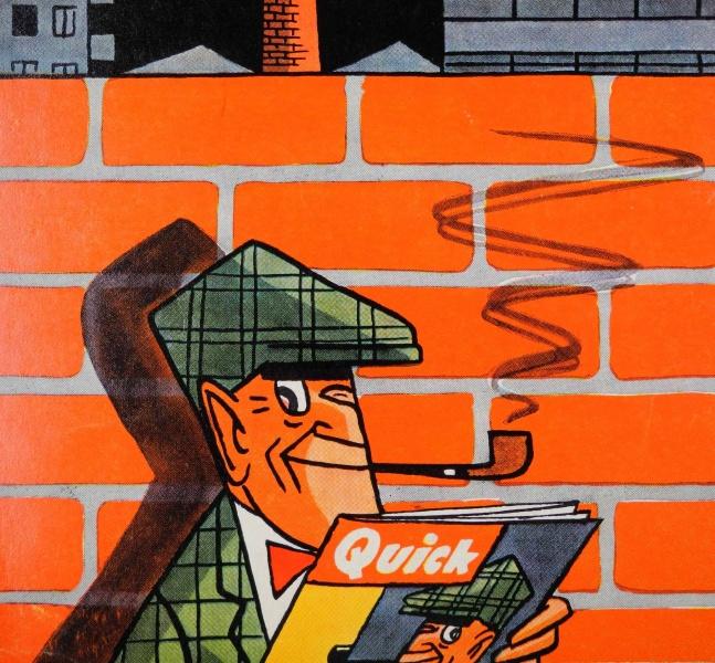 Knatterton-Zeichnung von Manfred Schmidt